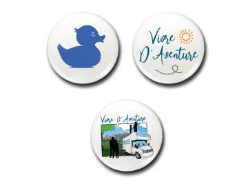 Badges  Lot Bleu