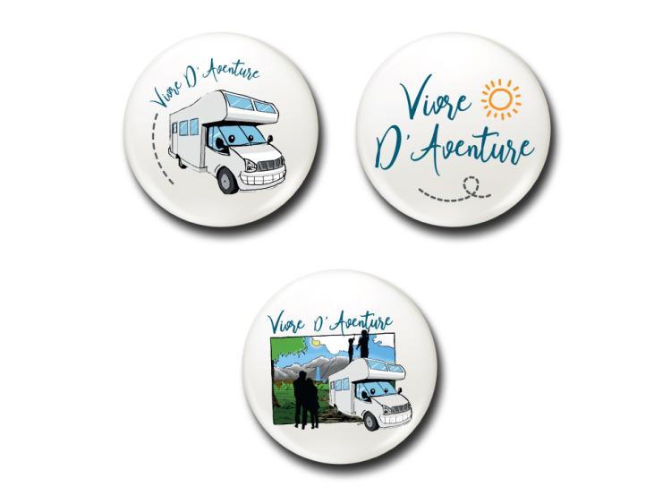 Badges - Lot Vivre d'Aventure